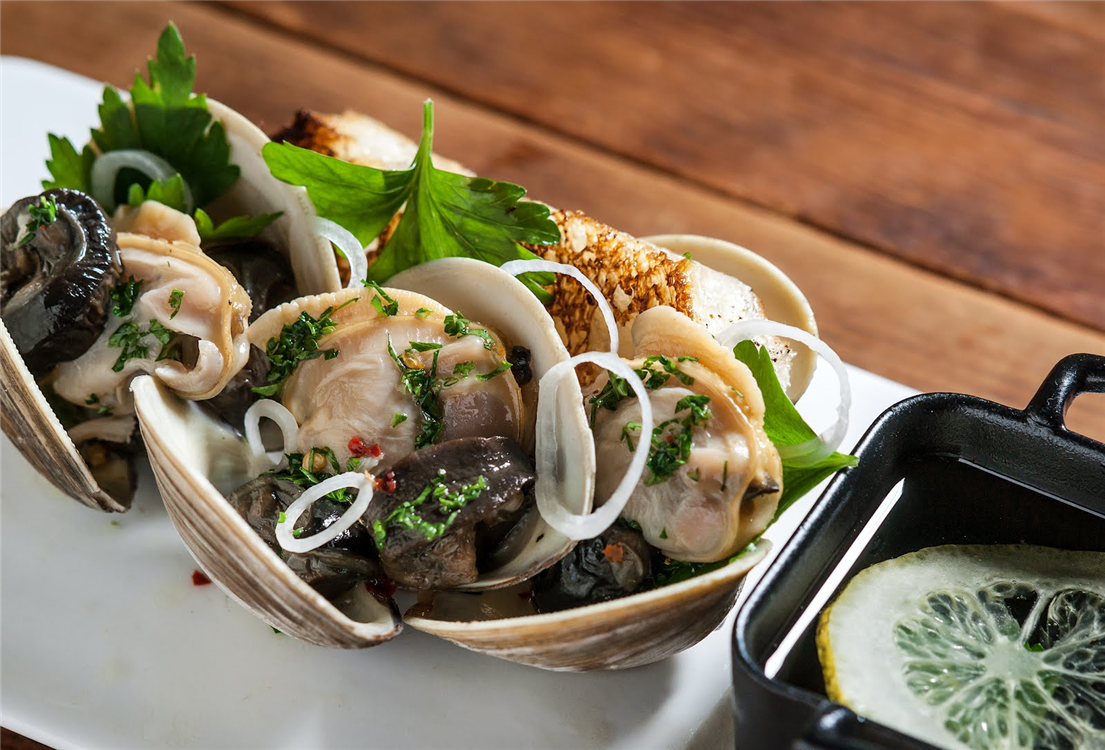 Littleneck Clams and Escargot