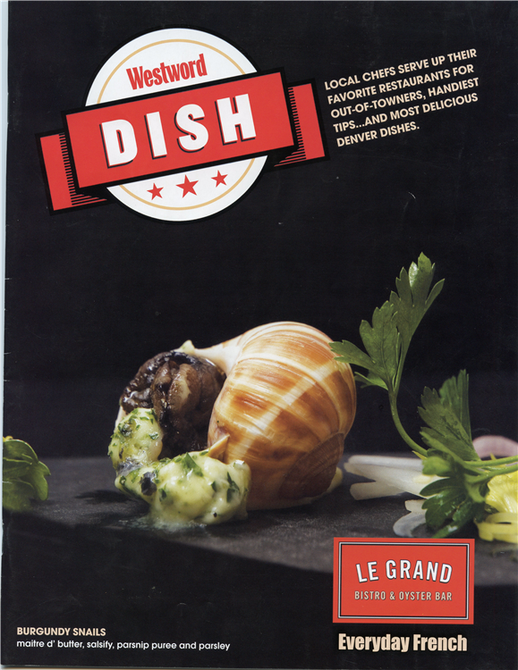 [Westword Dish Cover] Burgundy Snails, Salsify, Parsnip Purée & Parsley