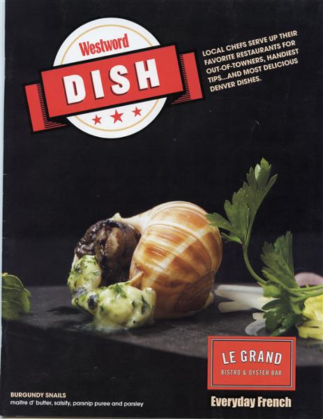 [Westword Dish Cover] Burgundy Snails, Salsify, Parsnip Purée & Parsley