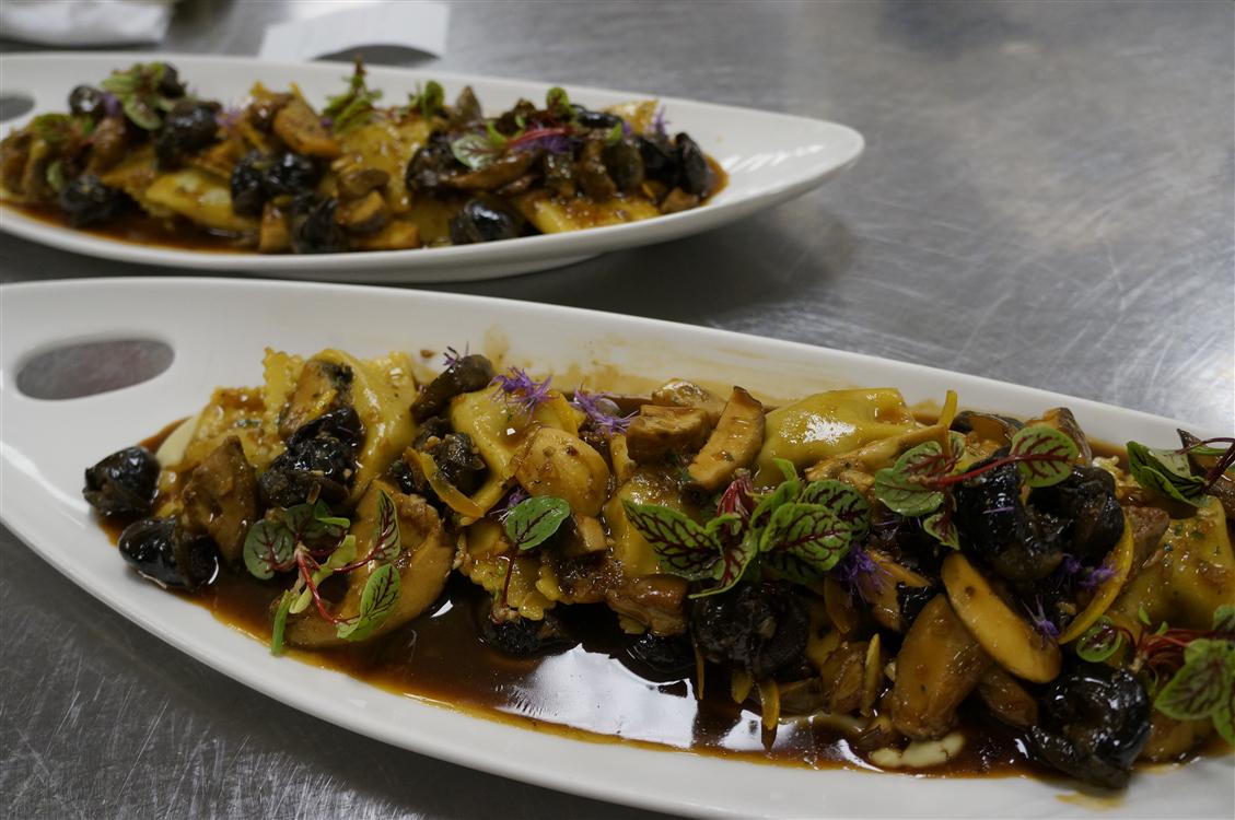 Smoked Snail Agnolotti, Porcini Mushroom, Artichoke Puree, Preserved Lemon National Escargot Day, 2013
