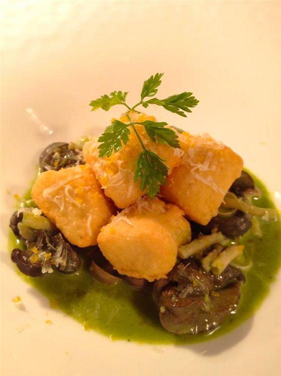 Wild Burgundy Snails, Gruyere Gnocchi, and Bottarga