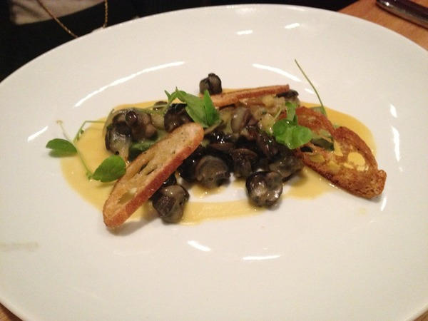 Burgundy Snails, White Bean, Spinach