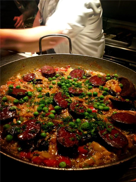 Pork & Snail Paella with Morcilla, Pumpkin & Sunchokes