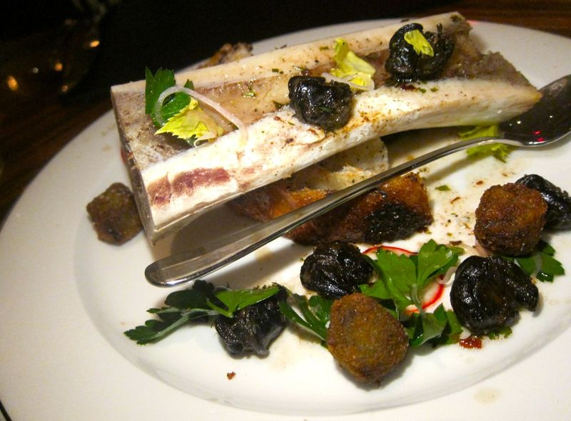 Bone Marrow, Short Rib, Escargot, James Beard Salad, Grandaisy Filone.