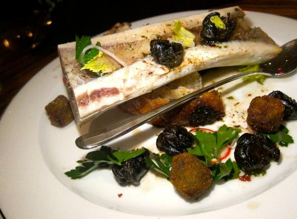 Bone Marrow, Short Rib, Escargot, James Beard Salad, Grandaisy Filone.