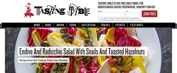 endive and radicchio salad